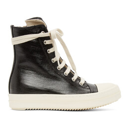 Rick Owens DRKSHDW Black Lacquered High Sneakers DU21S2800 HDLQP