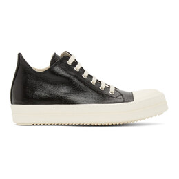 Rick Owens DRKSHDW Black Lacquered Low Sneakers DU21S2802 HDLQP
