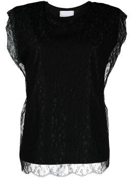 Philosophy Di Lorenzo Serafini кружевная блузка с логотипом A0707746