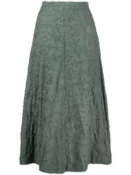 Alysi расклешенная юбка миди с вышивкой 101022