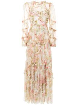 Needle & Thread платье Harlequin Rose с оборками DGLS32RPS21MOS