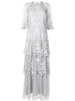 Needle & Thread платье Bonnie Bow с вышивкой DGSS17RPS21CRB