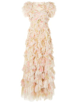 Needle & Thread платье Genevieve Rose с оборками DGSL65RPS21MOS