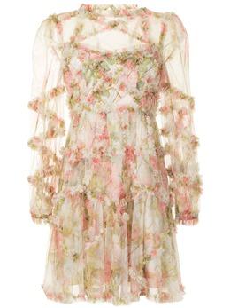 Needle & Thread платье мини Harlequin Rose с оборками DSLS34RPS21MOS