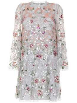 Needle & Thread платье мини Harlequin Rose с пайетками DSLS62RPS21CRB