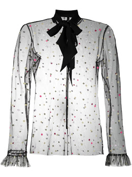 Philosophy Di Lorenzo Serafini блузка с тюлем A02080716