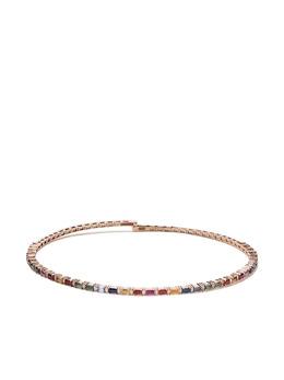 Suzanne Kalan золотой чокер Rainbow с бриллиантами и сапфирами BAP382RG