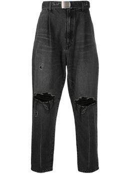 Doublet зауженные джинсы с эффектом потертости 21SS05PT146