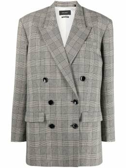 Isabel Marant double-breasted plaid blazer 21PVE141721P009I