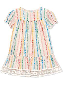 Gucci Kids платье с короткими рукавами и логотипом Interlocking G 653169ZAGCB