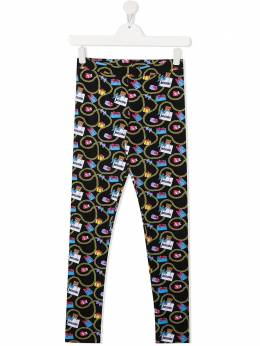 Moschino Kids Teddy Bear chain-print leggings HKP03ULBB52
