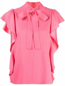 Red Valentino ruffled pussy-bow blouse VR3AEC500F1