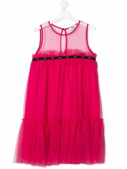 MSGM Kids logo tulle dress MS026848