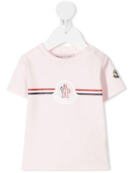 Moncler Enfant футболка с логотипом G19518C717008392E
