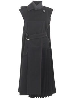 Полухлопковое Платье С Поясом Sacai 73IXYE021-MDAx0