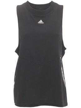 Майка Оверсайз Из Хлопка Adidas Originals 73IE87021-QkxBQ0tXSElURQ2