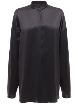 Блуза Из Шелкового Атласа Haider Ackermann 73IA7U008-R1JBUEhJVEU1