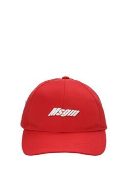 Бейсбольная Кепка Из Нейлона С Логотипом MSGM 73I93F042-MDQw0