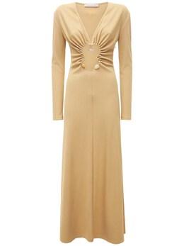 Платье Стрейч Из Вискозы Christopher Esber 73I3KU023-VEFOL0NJVFJPTg2