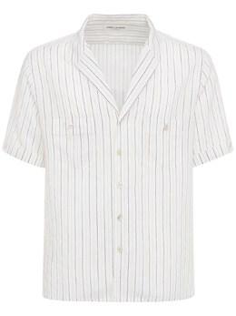 Рубашка Из Вискозы И Шелка Saint Laurent 73I25Z047-OTA3Mw2