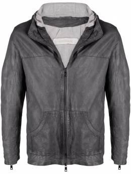 Giorgio Brato куртка с капюшоном и жатым эффектом GU21S9893V