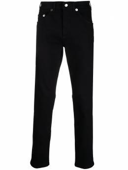 Neil Barrett узкие джинсы с нашивкой-логотипом PBDE314Q809T