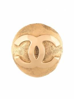 Chanel Pre-Owned брошь с логотипом CC B291257