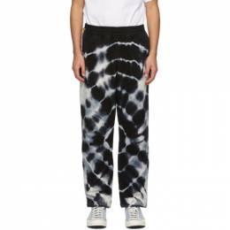 The Elder Statesman Black and White Tie-Dye Cloud Lounge Pants 200519