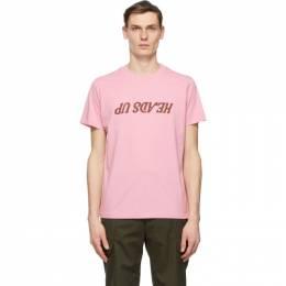 Helmut Lang Pink Saintwoods Edition Heads Up T-Shirt K10DM510