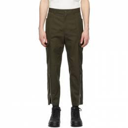 Helmut Lang Khaki Cotton Cargo Pants K10HM201