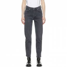 Citizens Of Humanity Grey High-Rise Charlotte Jeans 1731B-1098*