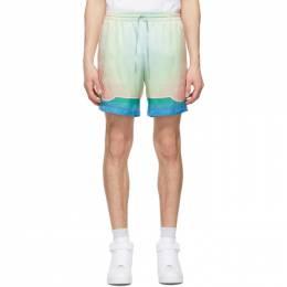 Casablanca Multicolor Silk Lucid Dream Shorts MS21-TR-012