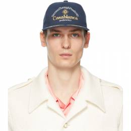 Casablanca Navy Success Through Positivity Cap AS21-HAT-008