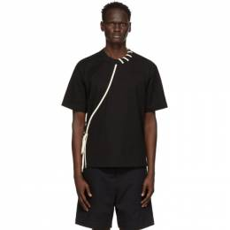 Craig Green Black and Off-White Laced T-Shirt CGSS21CJETSS01