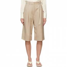 Low Classic Beige Wool Bermuda Shorts LOW21SS_SR01BE