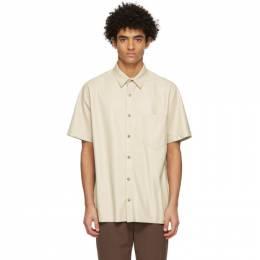 Nanushka Off-White Vegan Leather Adam Short Sleeve Shirt NM21RSSH00171