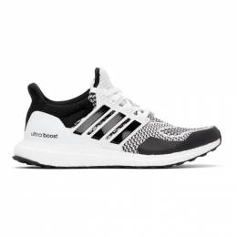 Adidas Originals White and Black Ultraboost 1.0 DNA Sneakers H68156