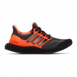 Adidas Originals Black and Orange Ultra 4D 5.0 Sneakers G58159