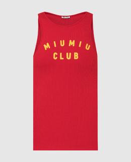 Красный топ Miu Miu 2300006600159