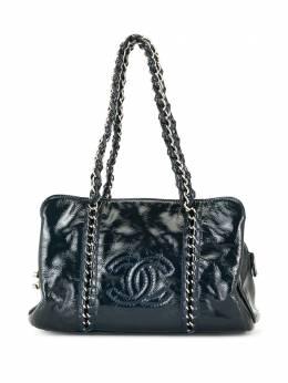 Chanel Pre-Owned сумка-тоут с логотипом CC U1430CHBL