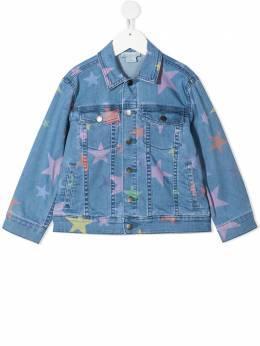 Stella McCartney Kids джинсовая куртка Stars 602792SQKB7