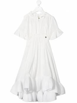 Lanvin Enfant платье с оборками N12010