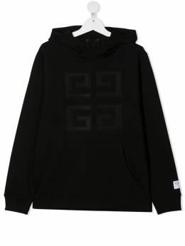 Givenchy Kids худи с вышитым логотипом Double G H25232