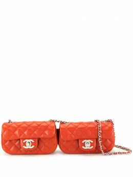 Chanel Pre-Owned сумка через плечо с поворотным замком и логотипом CC U1430CHRD