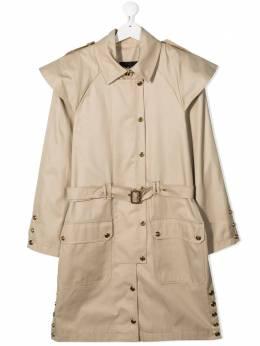 Balmain Kids TEEN belted-waist trench coat 6O2500OC080