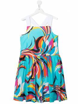 Emilio Pucci Junior платье без рукавов с принтом Sal 9M1122