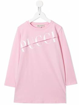 Emilio Pucci Junior платье-футболка с логотипом 9N1080
