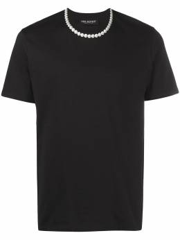 Neil Barrett pearl necklace T-shirt PBJT916SQ535S