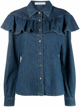 Philosophy Di Lorenzo Serafini джинсовая рубашка с оборками A02170731