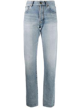 Saint Laurent прямые джинсы с завышенной талией 648437Y372Y